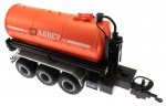 Treckerheld Fass-Aufsatz ABBEY Orange auf Krampe Hakenlift Fahrgestell Siku 6786 oben vorne rechts