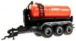 Treckerheld Fass-Aufsatz ABBEY Orange auf Krampe Hakenlift Fahrgestell Siku 6786 unten vorne links