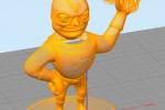 Treckerheld als 3D Drahtgitter-Modell