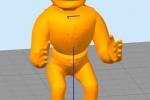 Treckerheld 3D-Modell nah