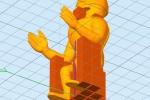 Treckerheld 3D-Modell sitzend von unten
