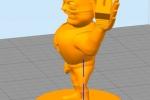 Treckerheld 3D-Modell stehend links