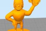 Treckerheld 3D-Modell stehend