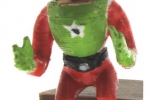 Treckerheld 3D-Figur fahrend