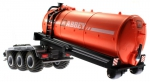Treckerheld Fass-Aufsatz ABBEY Orange auf Krampe Hakenlift Fahrgestell Siku 6786 abgeladen