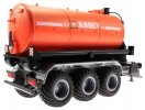 Treckerheld Fass-Aufsatz ABBEY Orange auf Krampe Hakenlift Fahrgestell Siku 6786 unten hinten rechts