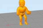 Treckerheld 3D-Modell sitzend