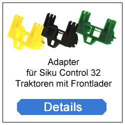 Adapter für Siku Control 32 Traktoren mit Frontlader