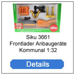 Siku 3661 Frontlader Anbaugeräte Kommunal