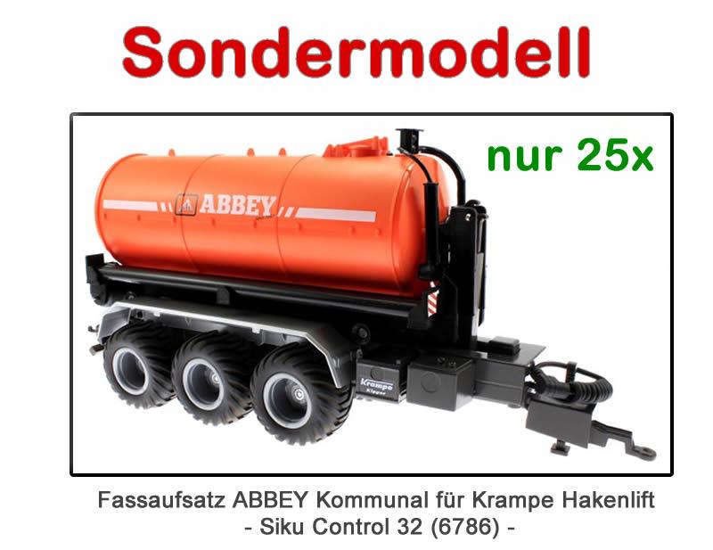 Sondermodell – Treckerheld Fassaufsatz Kommunal Orange