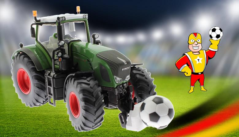 Gewicht Fußball für Siku Traktoren